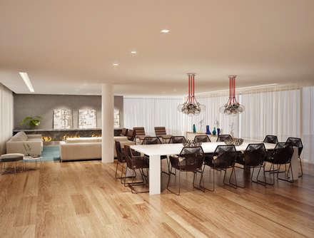 Residência Pedra Alta: Salas de jantar modernas por Marcos Baldasso Arquitetura