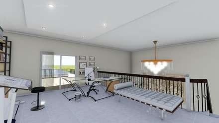 Vivienda Francesa Contemporanea: Estudios y oficinas de estilo clásico por ARBOL Arquitectos