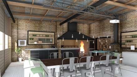 rustic Dining room by ARBOL Arquitectos