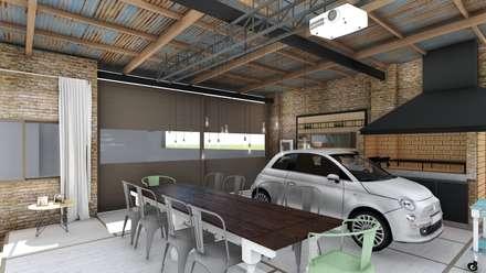 Quincho Loft Industrial: Comedores de estilo rústico por ARBOL Arquitectos