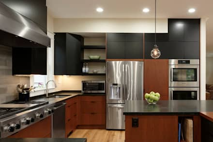 Cleveland Park DC Kosher Kitchen Renovation: modern Kitchen by BOWA - Design Build Experts