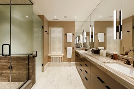 Luxury Kalorama Condo Renovation in Washington DC: minimalistic Bathroom by BOWA - Design Build Experts
