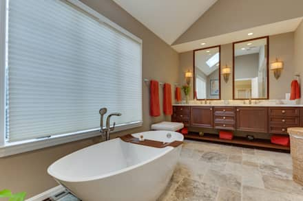 Universal Design Master Suite Renovation in McLean, VA: minimalistic Bathroom by BOWA - Design Build Experts