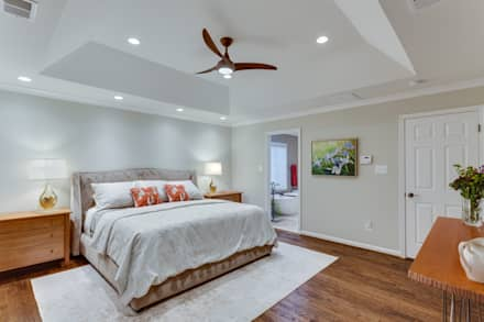Universal Design Master Suite Renovation in McLean, VA: minimalistic Bedroom by BOWA - Design Build Experts