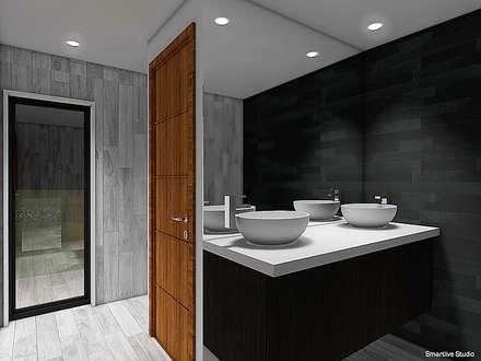 Casa Bravo - García, Ovalle, Chile: Baños de estilo moderno por Smartlive Studio