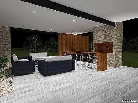 Casa Bravo - García, Ovalle, Chile: Spa de estilo moderno por Smartlive Studio