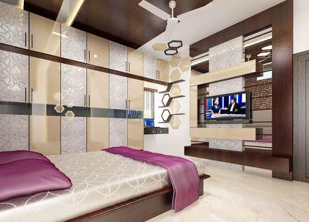 Residence OF Mr.Raghav: scandinavian Bedroom by A-Z Architects & Vaastu