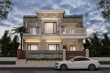 3D view after selecting all material: classic Houses by Square Designs