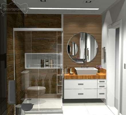 Projetos recentes: Banheiros modernos por Decoropravocê - Decoração ao seu alcance.