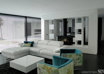 casa JL: Salas de estar minimalistas por arquitetura.501
