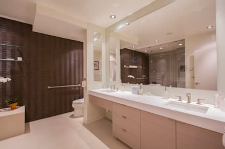 McLean Transitional : modern Bathroom by FORMA Design Inc.