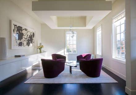 Craftsman Modern: modern Living room by FORMA Design Inc.