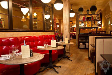 Restaurant:  Commercial Spaces by Kellie Burke Interiors