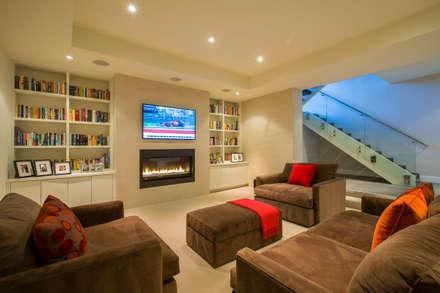 Craftsman Modern: modern Media room by FORMA Design Inc.