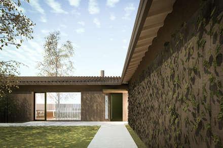 110_Abitazione in campagna: Ingresso & Corridoio in stile  di MIDE architetti