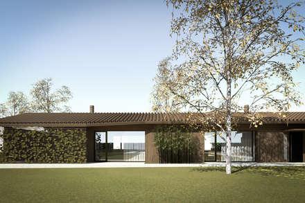 110_Abitazione in campagna: Giardino d'inverno in stile In stile Country di MIDE architetti