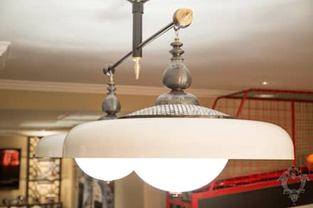 Entertainment Room Light Fixtures: classic Media room by Kellie Burke Interiors