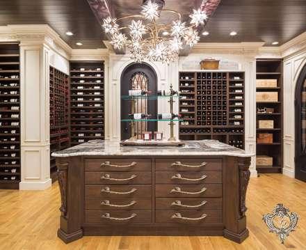 Red Wine Cellar: classic Wine cellar by Kellie Burke Interiors