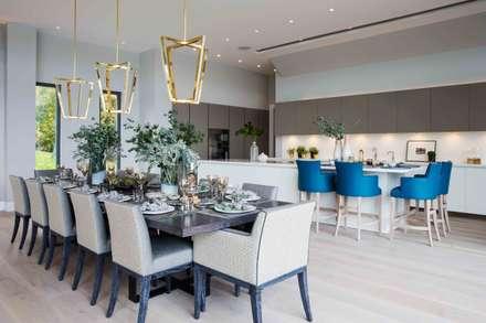 Elegante: Comedores de estilo moderno por Claudia Luján