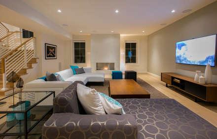 Bethesda Modern: modern Media room by FORMA Design Inc.