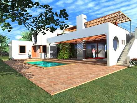 Casa Suazo: Casas de estilo mediterraneo por AOG SPA