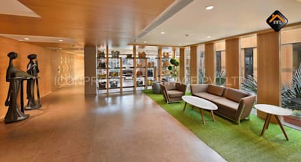 Corridor Area:  Commercial Spaces by ICON PROJECTS INSPACE PVT.LTD