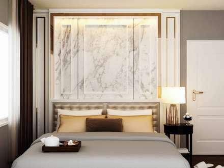 Dormitorios de estilo ecléctico por pyh's interior design studio