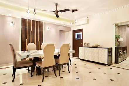central park, Gurgaon. (residence): minimalistic Dining room by Total Interiors Solutions Pvt. ltd.