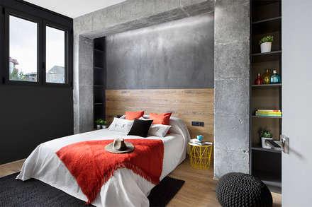 Poblenou en 3 actos: Dormitorios de estilo industrial de Egue y Seta