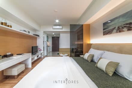 Kemang Village - Studio Apartment:  Kamar Tidur by INTERIORES - Interior Consultant & Build
