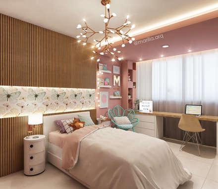 modern Nursery/kid's room by Marilia Zimmermann Arquitetura e Interiores