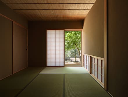Salas multimedias de estilo  por 柳瀬真澄建築設計工房 Masumi Yanase Architect Office