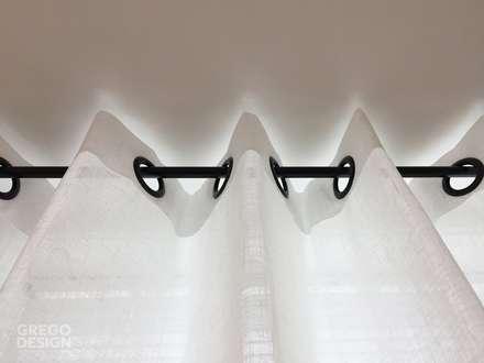 Maatwerk keukenontwerp: moderne Eetkamer door Grego Design