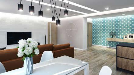 Современный стиль, минимализм Площадь - 95 м.кв., 3 комнаты: Столовые комнаты в . Автор – Anna Romeo Design