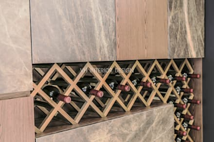 信義何公館:  酒窖 by VH INTERIOR DESIGN