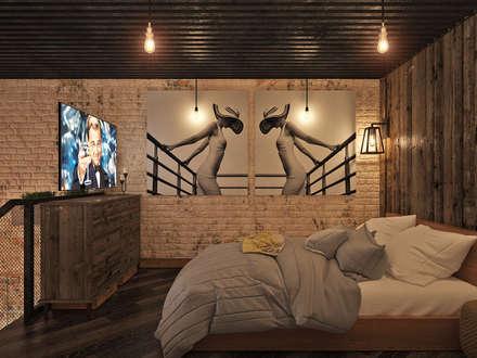 industrial Bedroom by Арт Реал Дизайн
