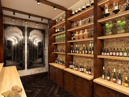 eclectic wine cellar by nataliia sapkevych homify ru - Wine Cellar Design Ideas