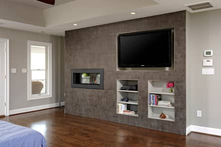 Master Suite and Master Bathroom Renovation in Great Falls, VA: modern Bedroom by BOWA - Design Build Experts