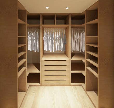 reforma de vivienda jm vestidores de estilo moderno de cliz vzquez arquitectura e interiorismo - Vestidores Diseo