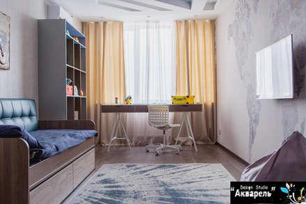 Habitaciones de bebé de estilo  de Дизайн студия 'Акварель'
