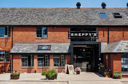 Entrance to Sheppy's Cider:  Gastronomy by Barc Architects