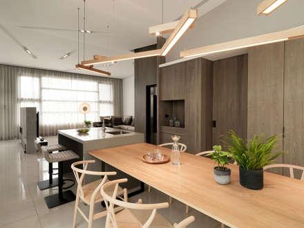 modern Dining room by 禾築國際設計Herzu  Interior Design