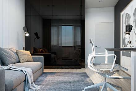 Graceful apartment in Brno, Czech Republic: Рабочие кабинеты в . Автор – Diff.Studio