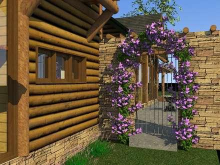 Casa nas Montanhas: Jardins de fachadas de casas  por MEI Arquitetura