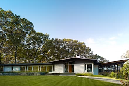 Paradise Lane, Litchfield County, CT: modern Houses by BILLINKOFF ARCHITECTURE PLLC