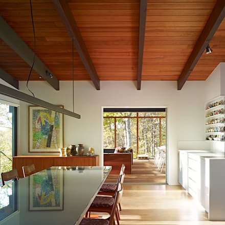Paradise Lane, Litchfield County, CT: modern Dining room by BILLINKOFF ARCHITECTURE PLLC