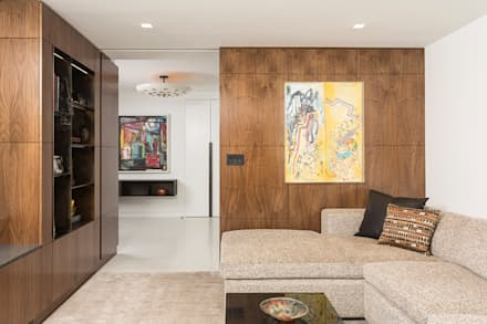 East 69th Street Apartment, NYC: classic Media room by BILLINKOFF ARCHITECTURE PLLC