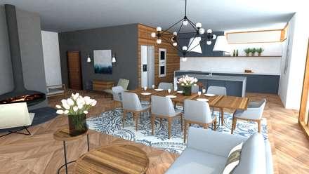 : modern Living room by Koho