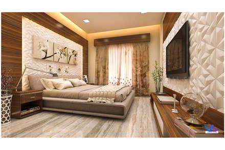 modern bedroom: modern Bedroom by VISIONAL STUDIO