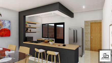 Barra de cocina: Cocinas equipadas de estilo  por IAD Arqutiectura